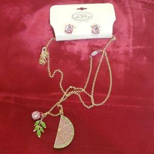 Catherine stein watermelon necklace